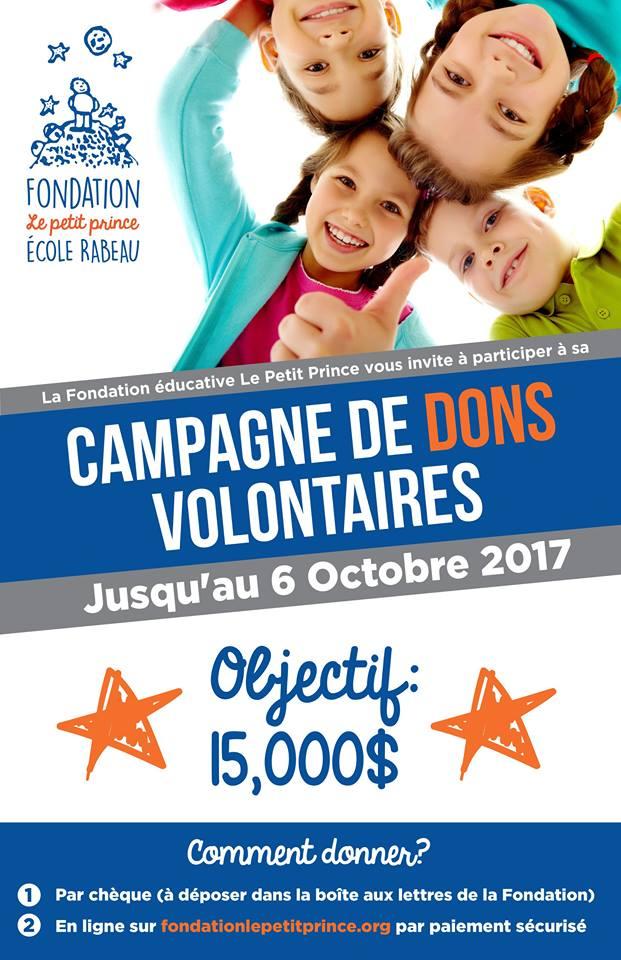Campagne de dons volontaires